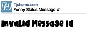 status message box