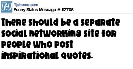 Funny Status Message 112705