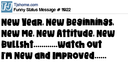 new status message