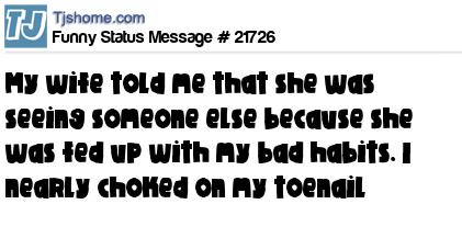 Funny Status Message #21726