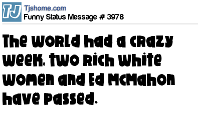 Funny Status Message #3978